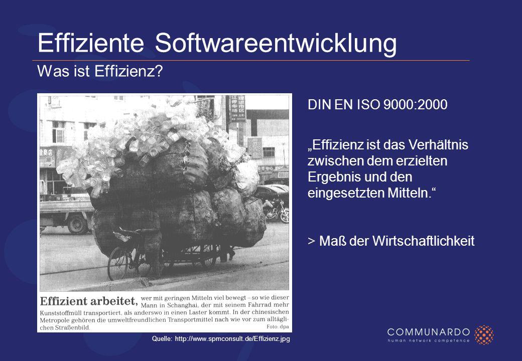 Effiziente Softwareentwicklung Warum beschäftigt uns dieses Thema.