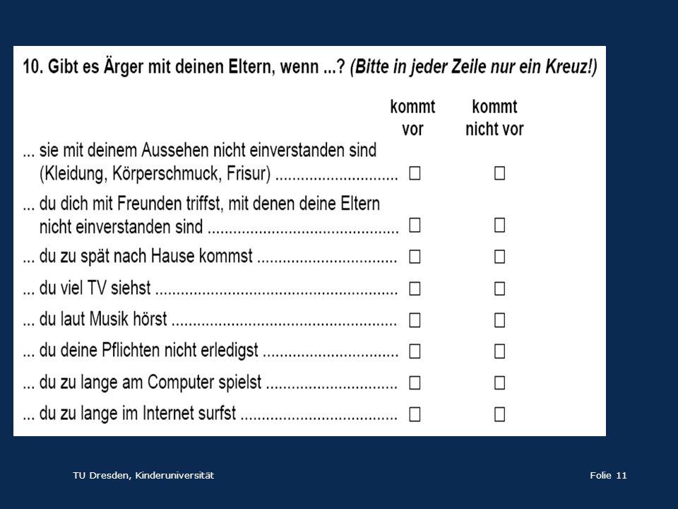 TU Dresden, KinderuniversitätFolie 11