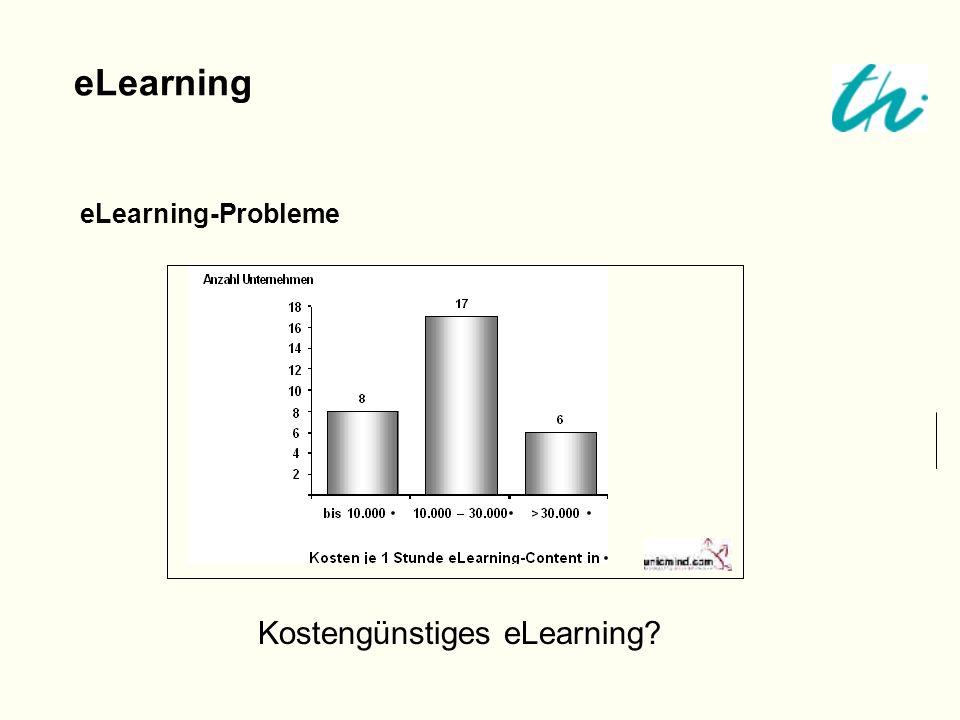 eLearning-Probleme eLearning Kostengünstiges eLearning?