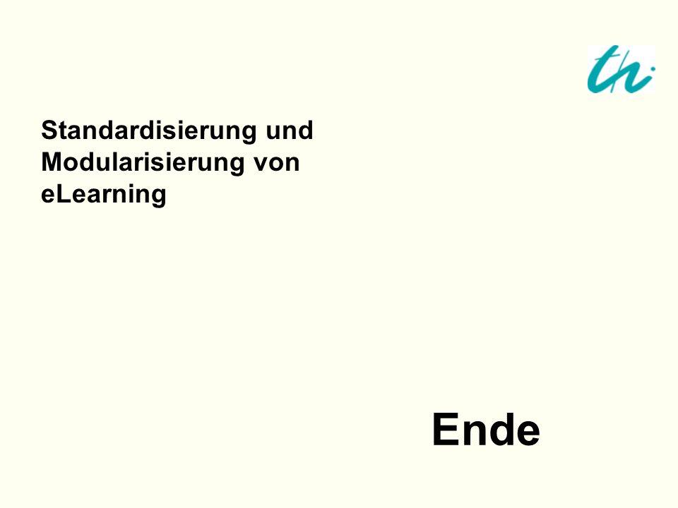 Ende Standardisierung und Modularisierung von eLearning