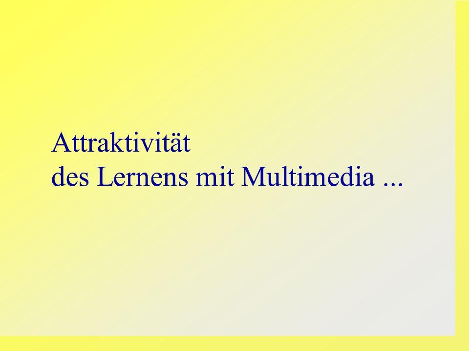 Attraktivität des Lernens mit Multimedia...