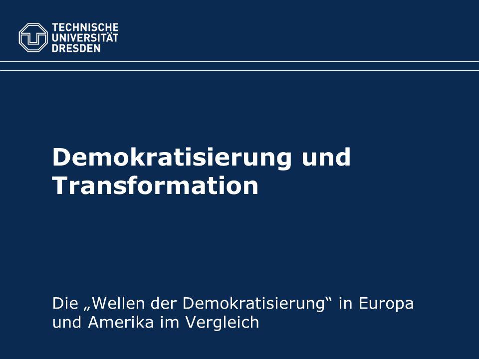 Forschungsfrage: Was sind die Voraussetzungen für eine erfolgreiche Demokratisierung?