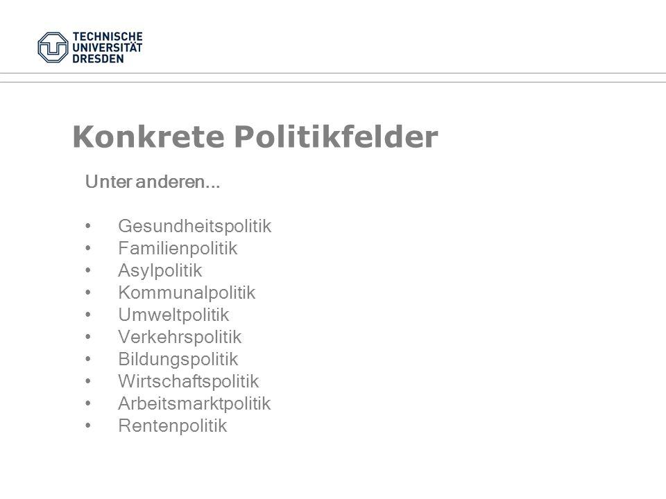 Merkmale der Politikfeldanalyse Politikfeldanalyse ist...