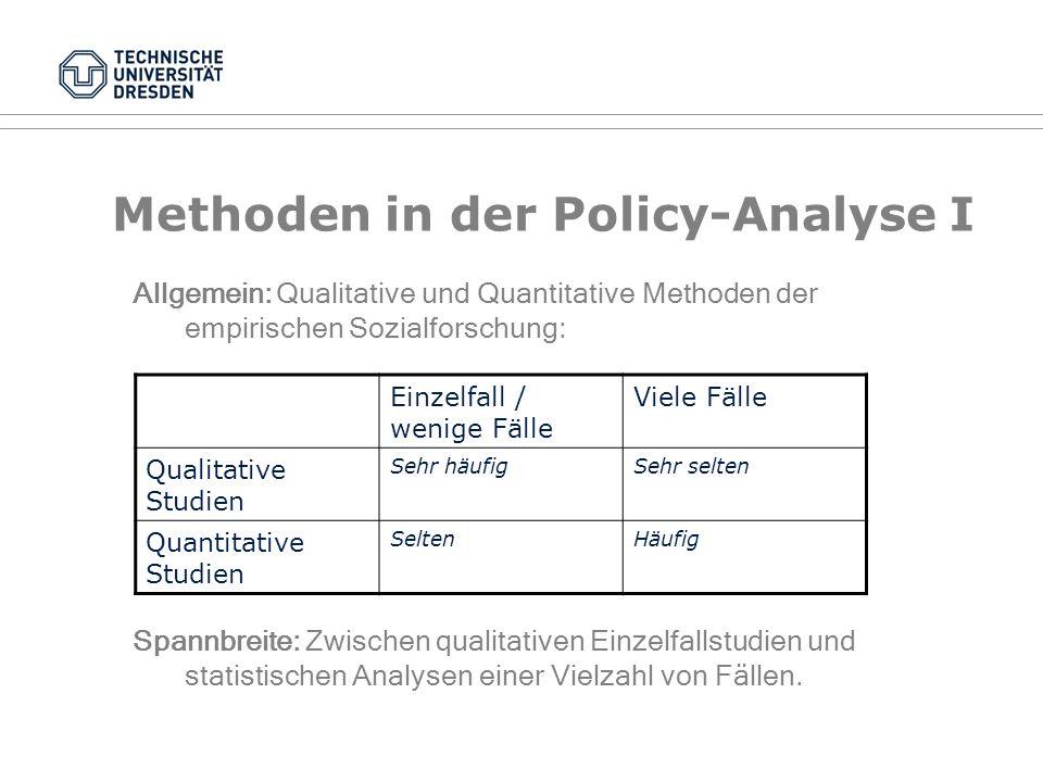 Handlungsorientierte Ansätze VI Distributive Policy (Beispiel: Kindergeld) Redistributive Policy (Beispiel: Progressivität der Einkommenssteuer) Regul