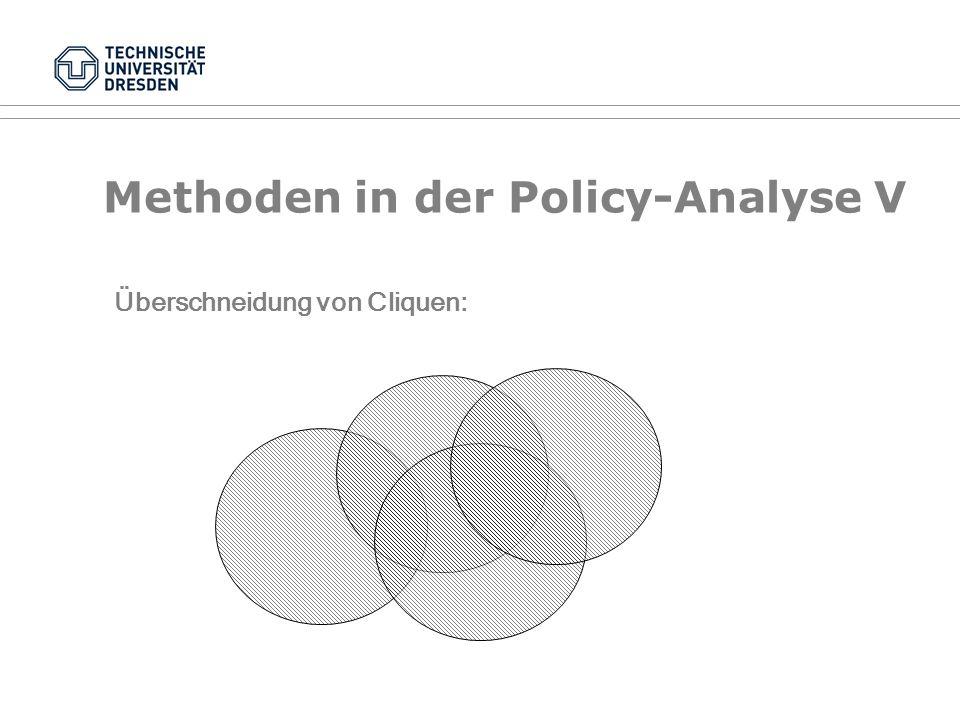 Methoden in der Policy-Analyse IV Beziehungsstrukturen als Graphen: BT LT 1 LT 2 EU A B C