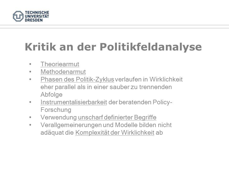 Politikberatung II Evaluation von Institutionenreformen (nach Patzelt 2007 und Lempp 2007): Zentralkategorie: Institutionelle Fitness: Überlebens- und