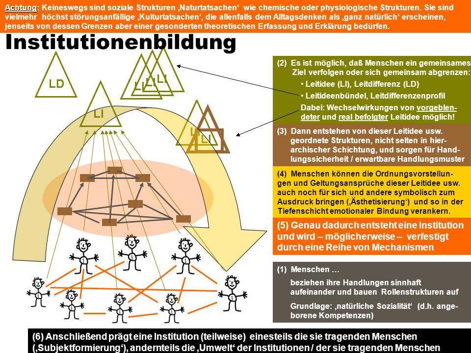 TU Dresden - Institut für Politikwissenschaft - Prof. Dr. Werner J. Patzelt LI (1) Menschen … beziehen ihre Handlungen sinnhaft aufeinander und bauen