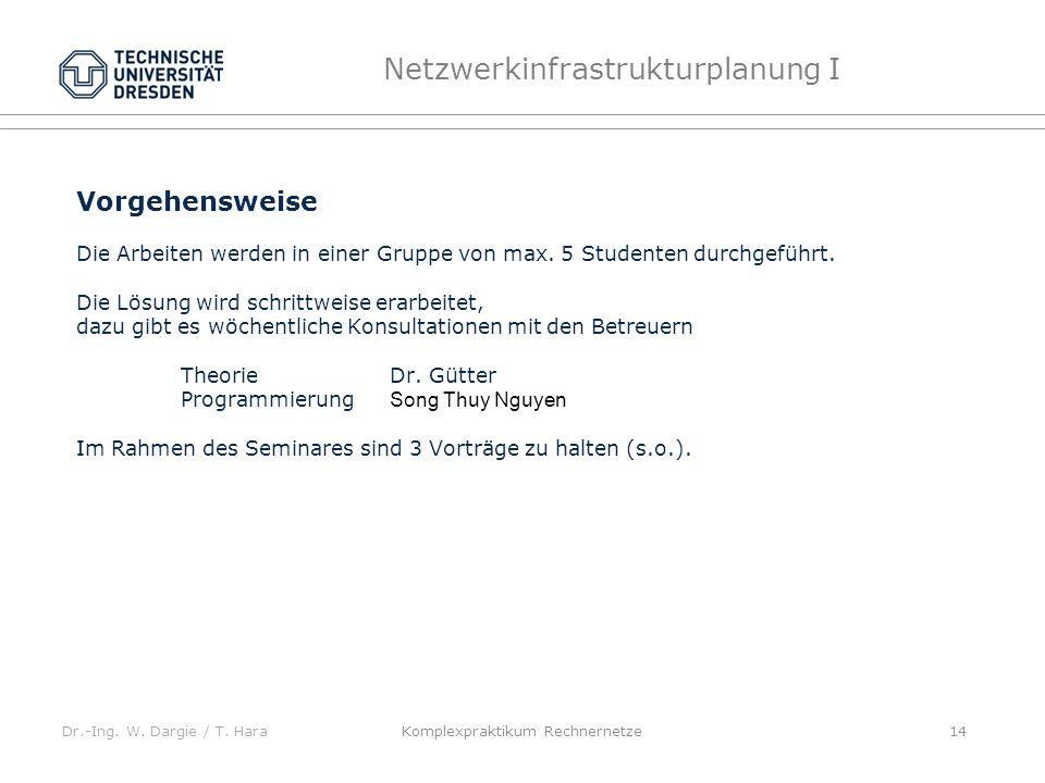 Dr.-Ing. W. Dargie / T.