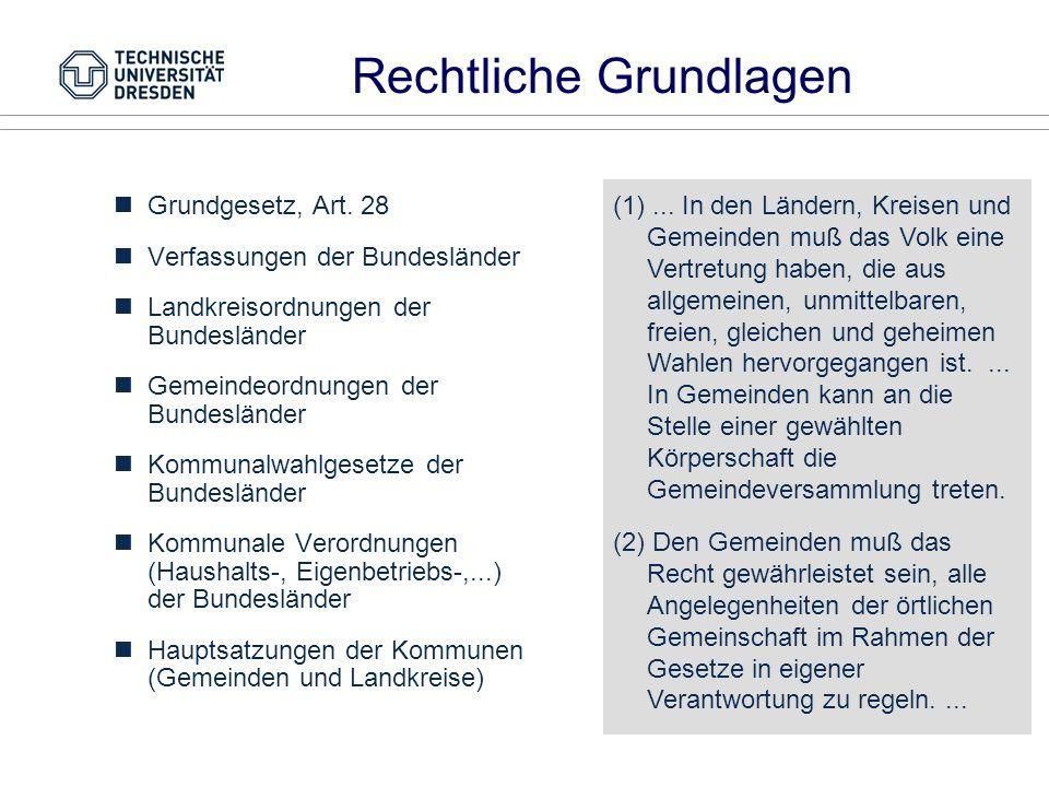 Kommunalverfassungen sind Ländersache Bis zum Beginn der 90er vier Typen: Norddt.