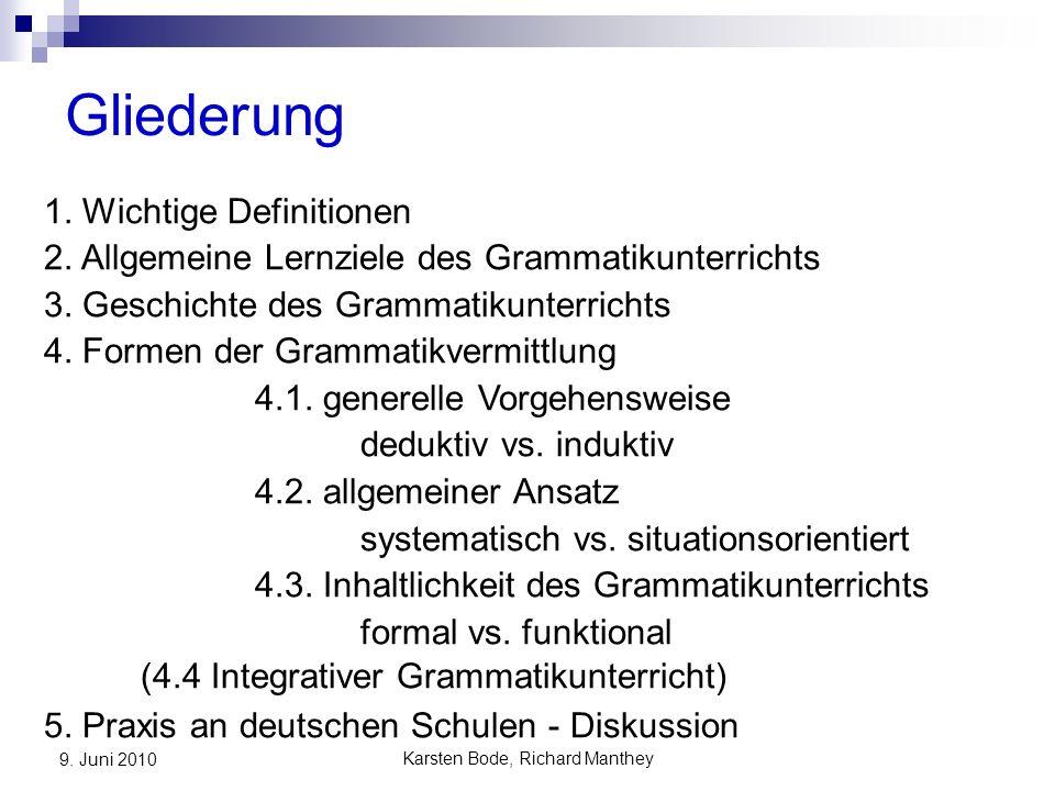Karsten Bode, Richard Manthey 9.Juni 2010 4.1 generelle Vorgehensweise deduktiv vs.