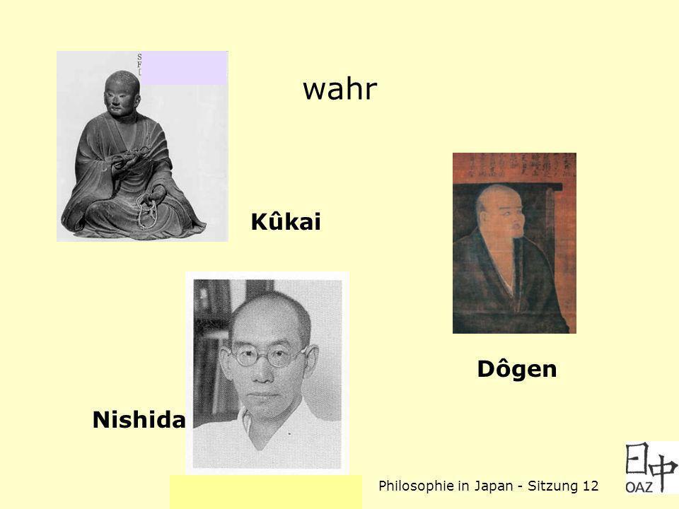 Philosophie in Japan - Sitzung 12 wahr Kûkai Dôgen Nishida
