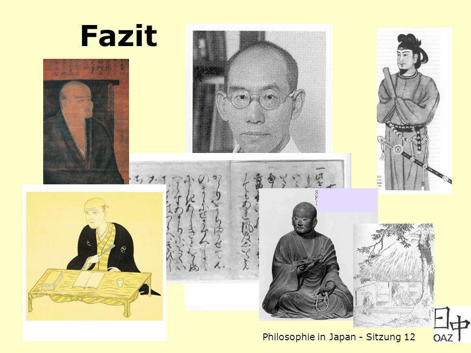 Philosophie in Japan - Sitzung 12 Fazit