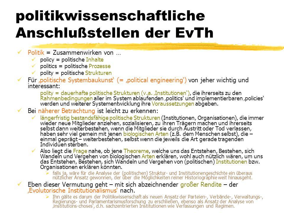 TU Dresden – Institut für Politikwissenschaft – Prof. Dr. Werner J. Patzelt politikwissenschaftliche Anschlußstellen der EvTh Politik = Zusammenwirken