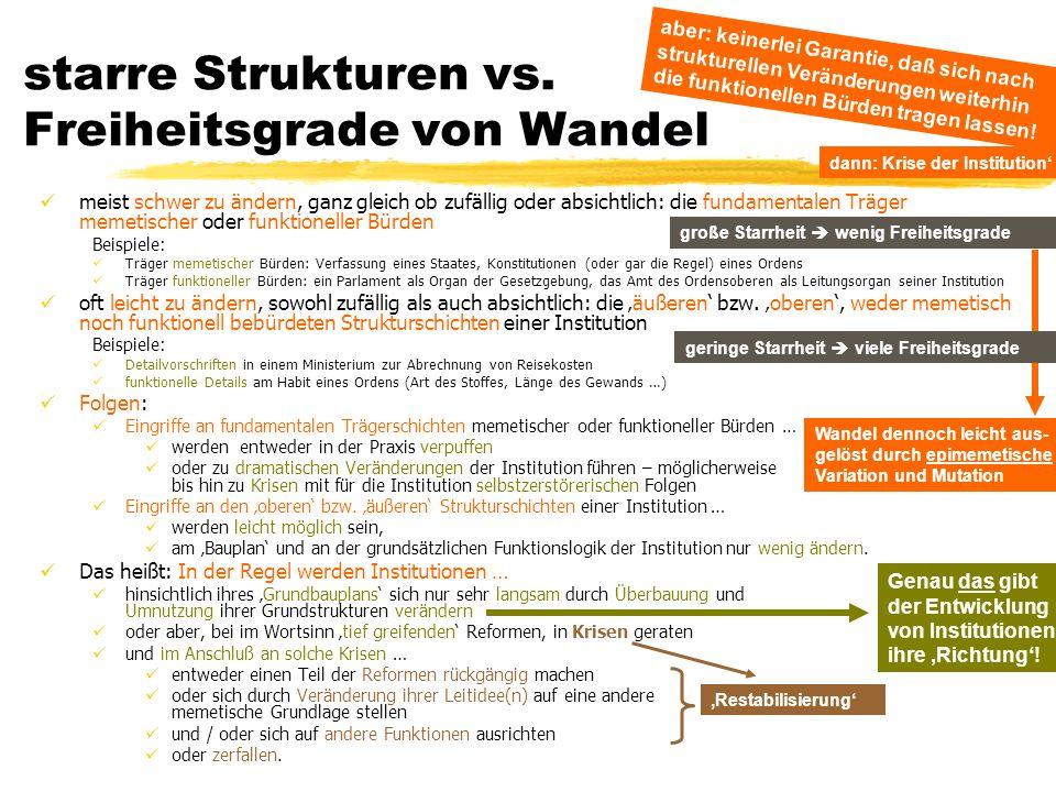 TU Dresden – Institut für Politikwissenschaft – Prof. Dr. Werner J. Patzelt starre Strukturen vs. Freiheitsgrade von Wandel meist schwer zu ändern, ga