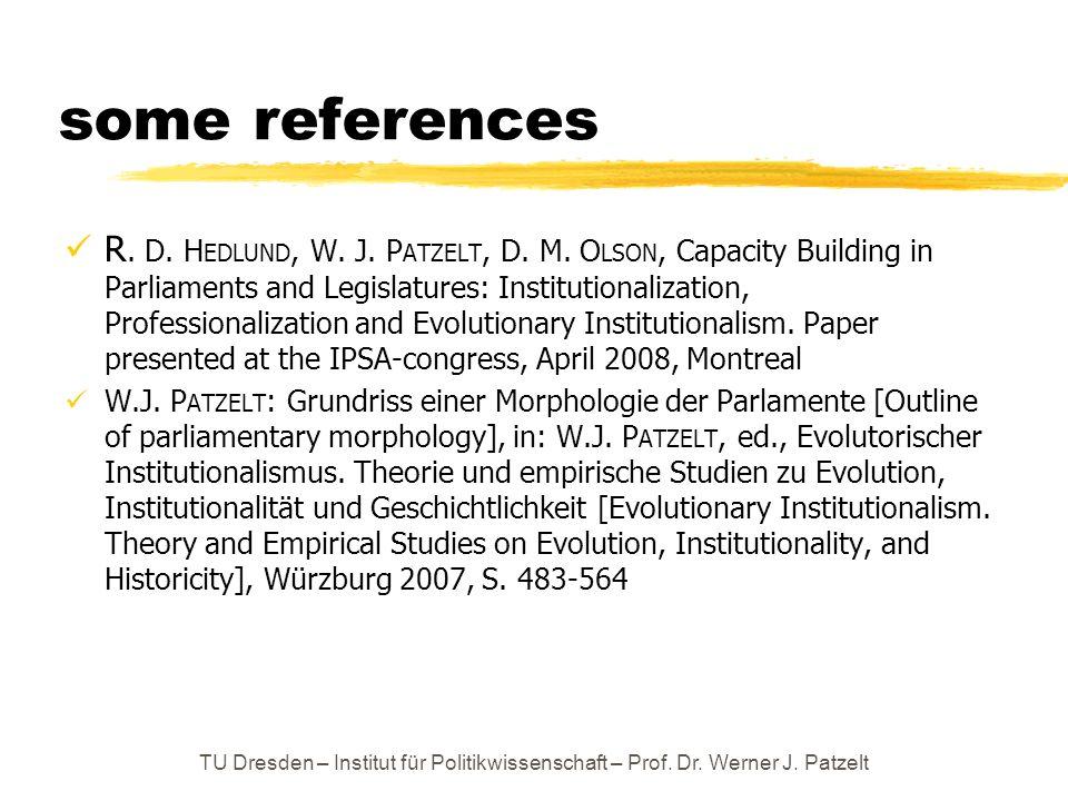 some references R.D. H EDLUND, W. J. P ATZELT, D.