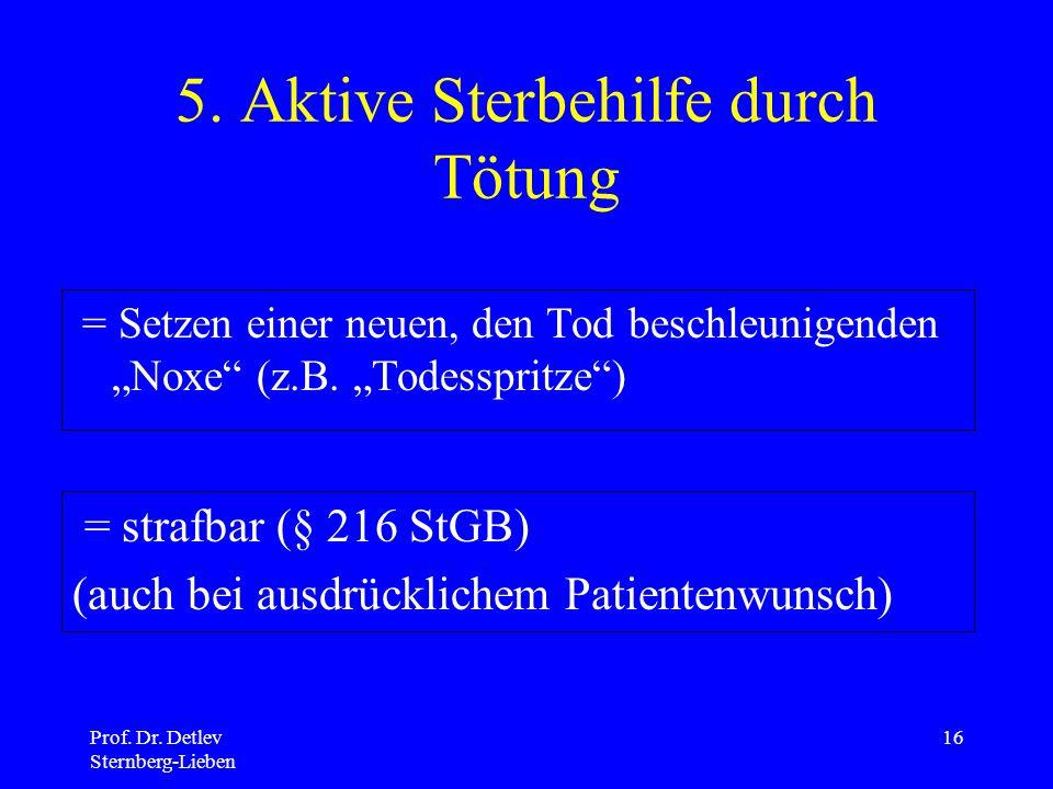 Prof.Dr. Detlev Sternberg-Lieben 16 5.