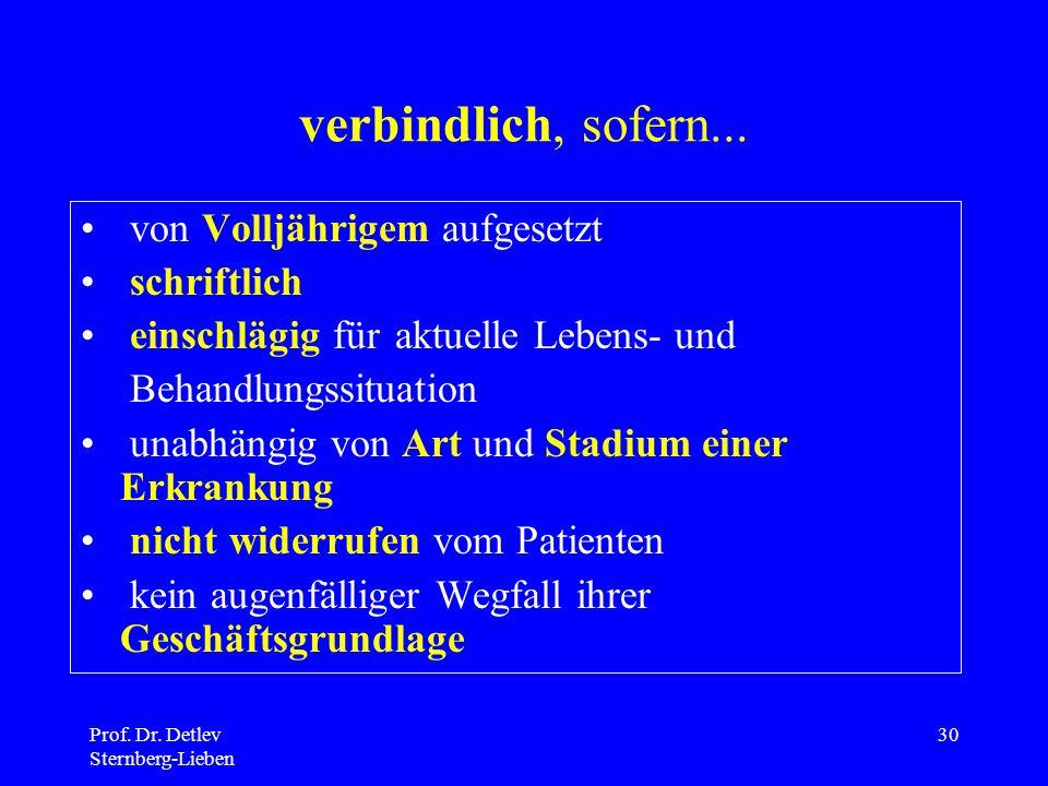 Prof.Dr. Detlev Sternberg-Lieben 30 verbindlich, sofern...