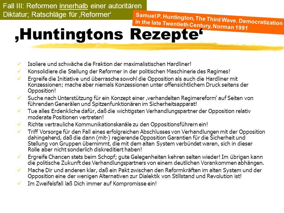 TU Dresden - Institut für Politikwissenschaft - Prof. Dr. Werner J. Patzelt Isoliere und schwäche die Fraktion der maximalistischen Hardliner! Konsoli