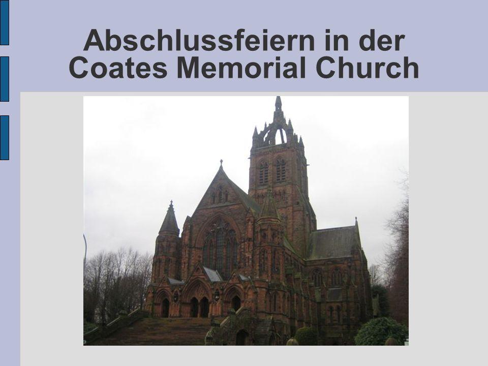 Abschlussfeiern in der Coates Memorial Church