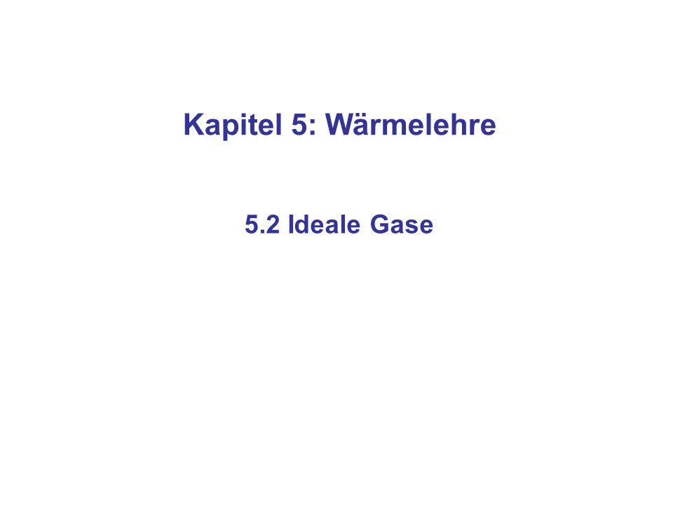 n=Teilchenzahl k B =Boltzmann-Konstante =1.38110 -23 J/K N=Anzahl der Mole R=allgemeine Gaskonstante =8.314 J/(mol K) Die allgemeine Gasgleichung (für ideale Gase)