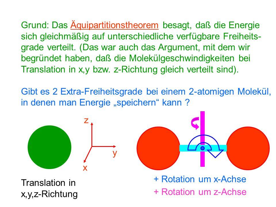 Bei Festkörpern hatten wir bereits festgestellt, daß die molaren Wärmekapazitäten sehr ähnlich sind und bei ca 3R liegen.