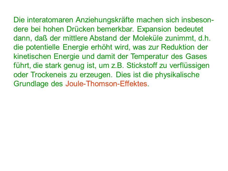 Kapitel 5: Wärmelehre 5.3 Innere Energie, Volumenarbeit und der 1. Hauptsatz