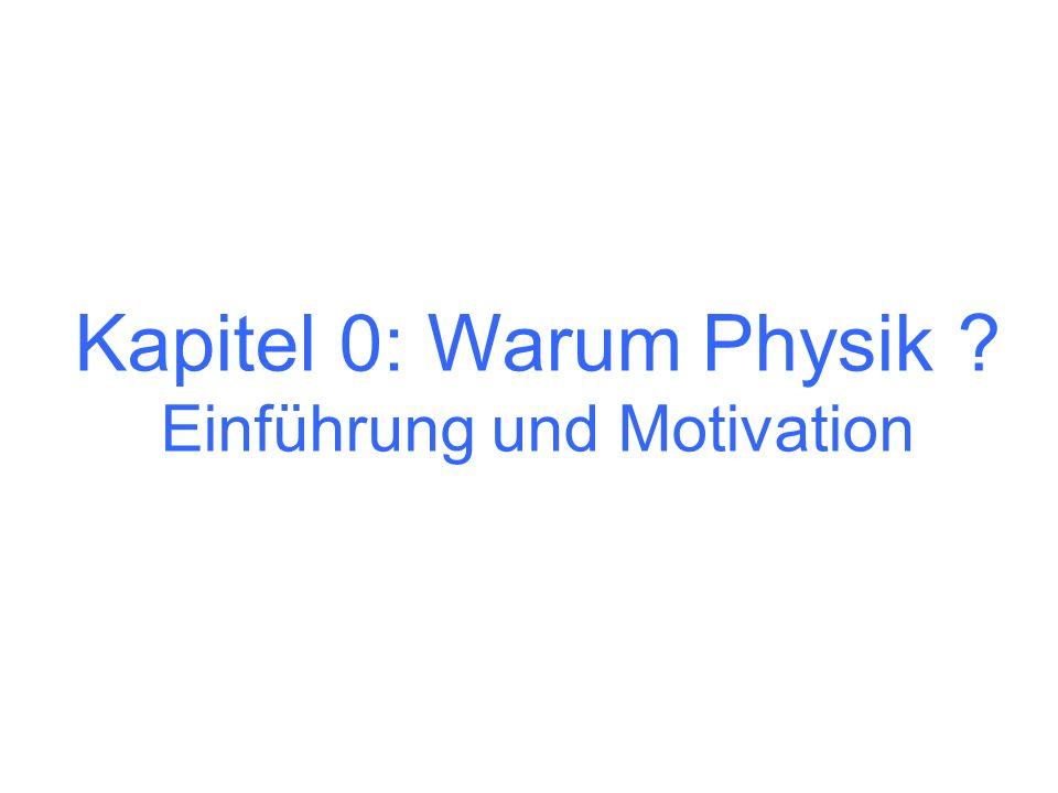 Kapitel 0: Warum Physik ? Einführung und Motivation