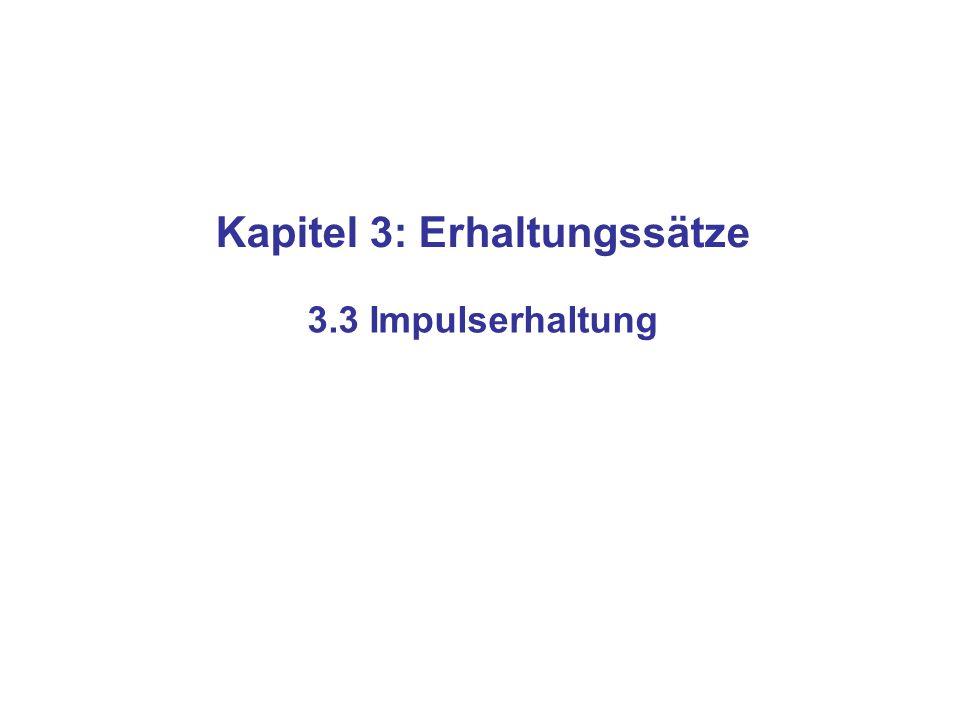 Kapitel 3: Erhaltungssätze 3.3 Impulserhaltung