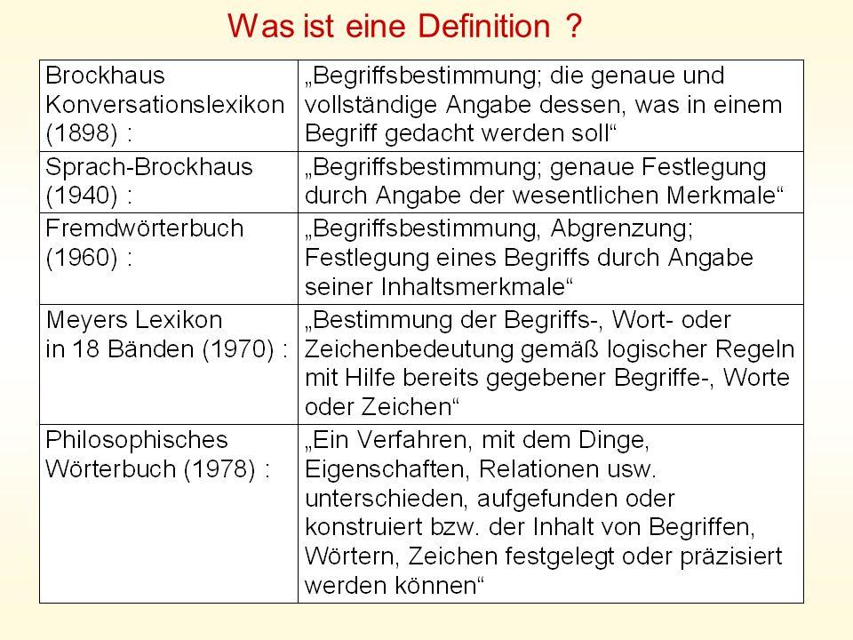 Was ist eine Definition ?