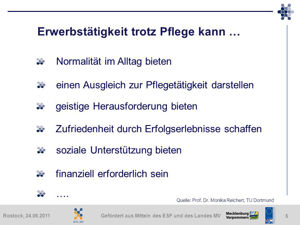 Gefördert aus Mitteln des ESF und des Landes MVRostock, 24.06.2011 26 Was können Arbeitgebende tun.