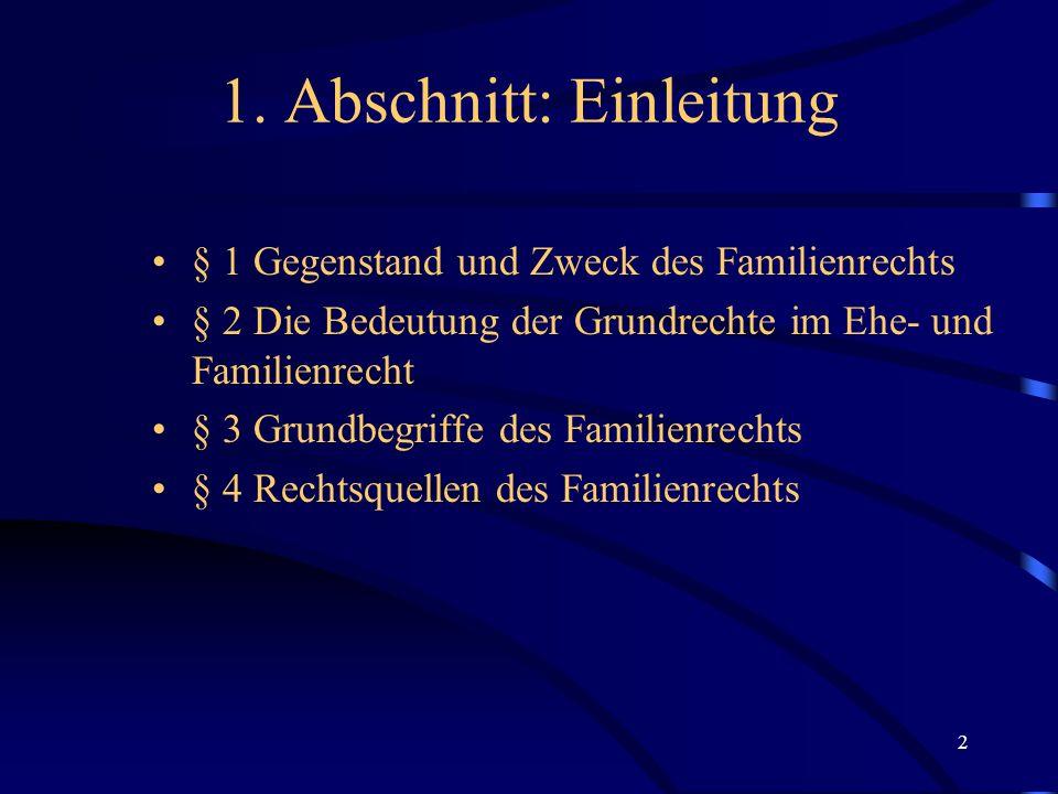 12 II.Art. 6 II, III GG Beispiel 2: BVerfG FamRZ 2002, 306 § 1616 II 1 BGB i.d.F.
