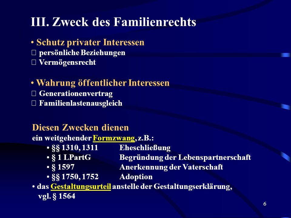 16 § 3 Grundbegriffe des Familienrechts I.