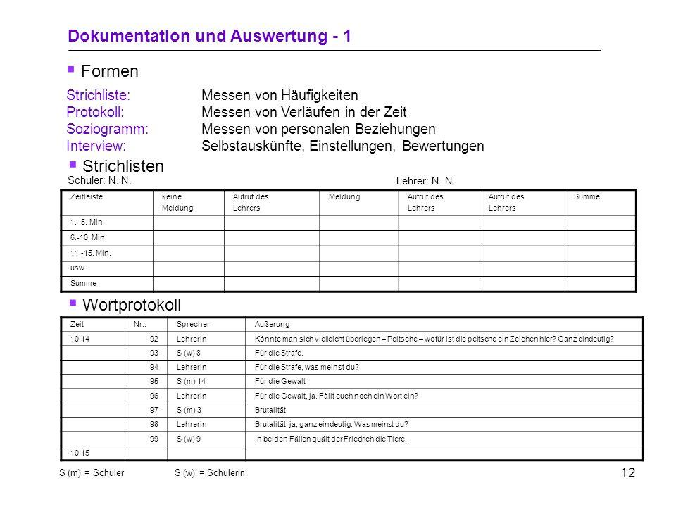 10 1.Beobachtungsbereich festlegen 2.Unstrukturierte Beobachtung durchführen (Informationen sammeln und verarbeiten) 3.Einengung auf bestimmte Kategor