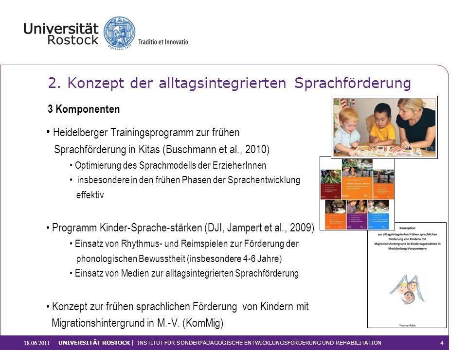 Heidelberger Trainingsprogramm zur frühen Sprachförderung in Kitas (Buschmann et al., 2010) Optimierung des Sprachmodells der ErzieherInnen insbesonde