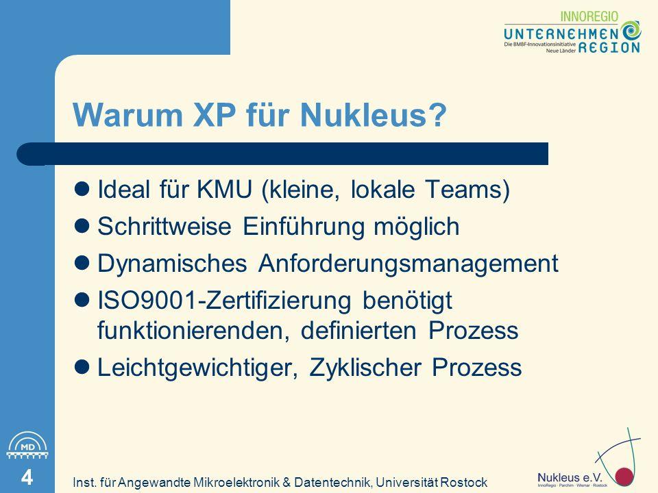 Inst. für Angewandte Mikroelektronik & Datentechnik, Universität Rostock 4 Warum XP für Nukleus.