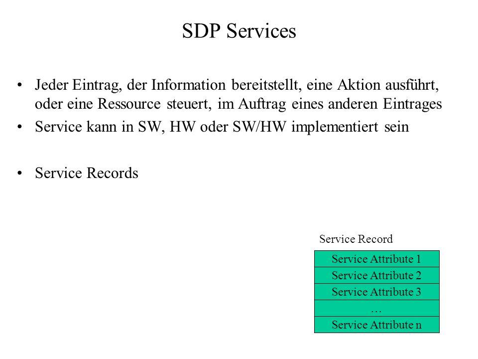 SDP Services Jeder Eintrag, der Information bereitstellt, eine Aktion ausführt, oder eine Ressource steuert, im Auftrag eines anderen Eintrages Servic