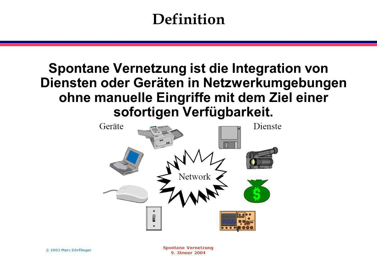© 2003 Marc Dörflinger Spontane Vernetzung 9.