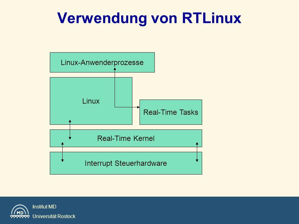 Institut MD Universität Rostock Verwendung von RTLinux Interrupt Steuerhardware Real-Time Kernel Linux Real-Time Tasks Linux-Anwenderprozesse