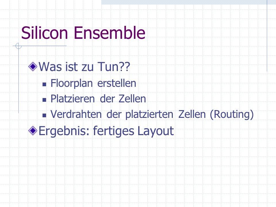 Silicon Ensemble Was ist zu Tun?.