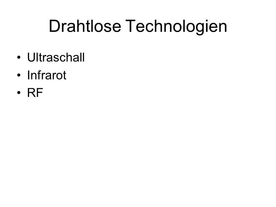 Drahtlose Technologien Ultraschall Infrarot RF