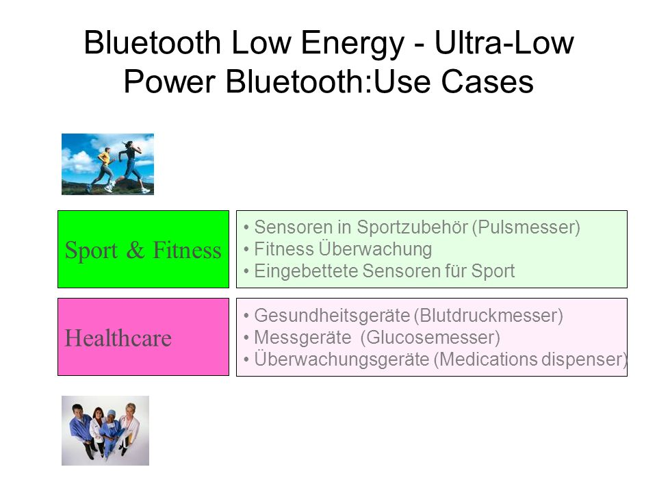 Sensoren in Sportzubehör (Pulsmesser) Fitness Überwachung Eingebettete Sensoren für Sport Bluetooth Low Energy - Ultra-Low Power Bluetooth:Use Cases G