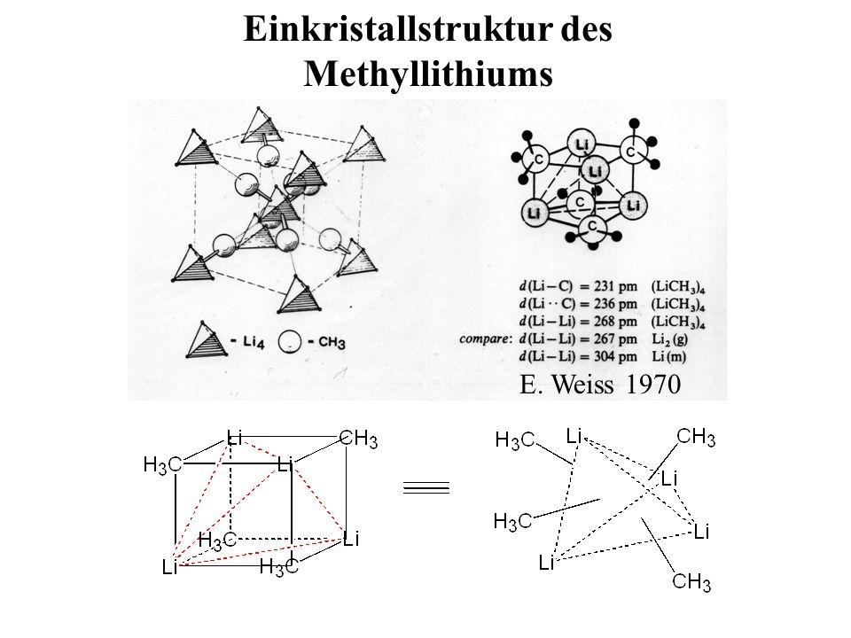 Einkristallstruktur des Methyllithiums E. Weiss 1970