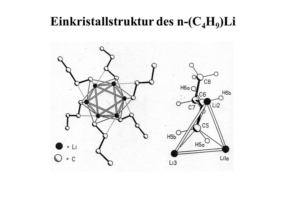 Einkristallstruktur des n-(C 4 H 9 )Li