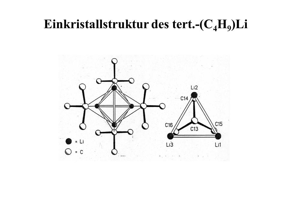 Einkristallstruktur des tert.-(C 4 H 9 )Li
