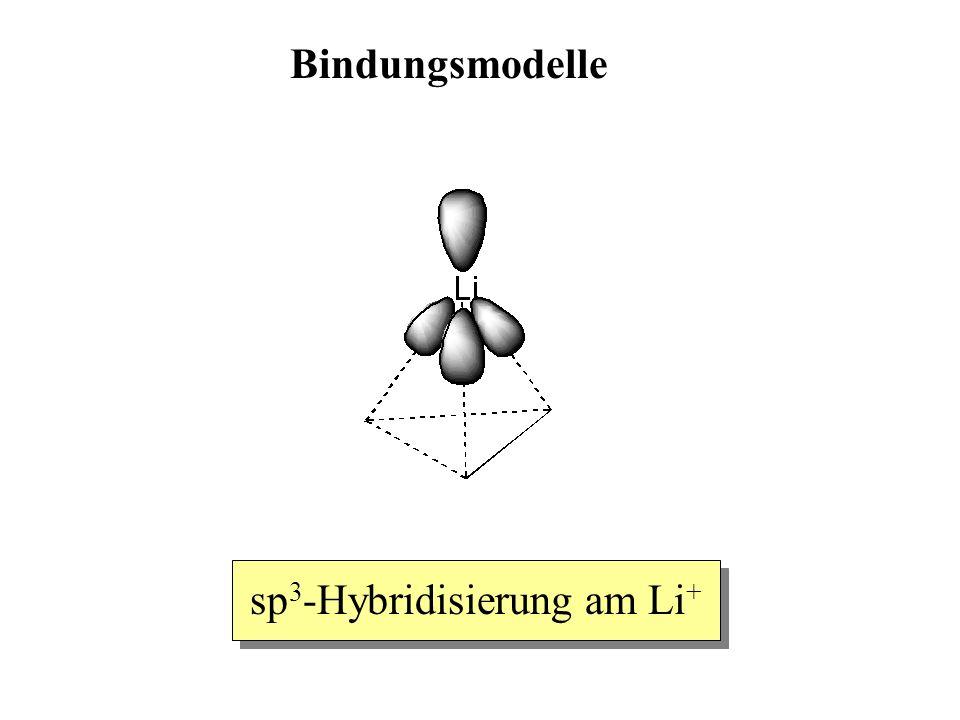 Bindungsmodelle sp 3 -Hybridisierung am Li +