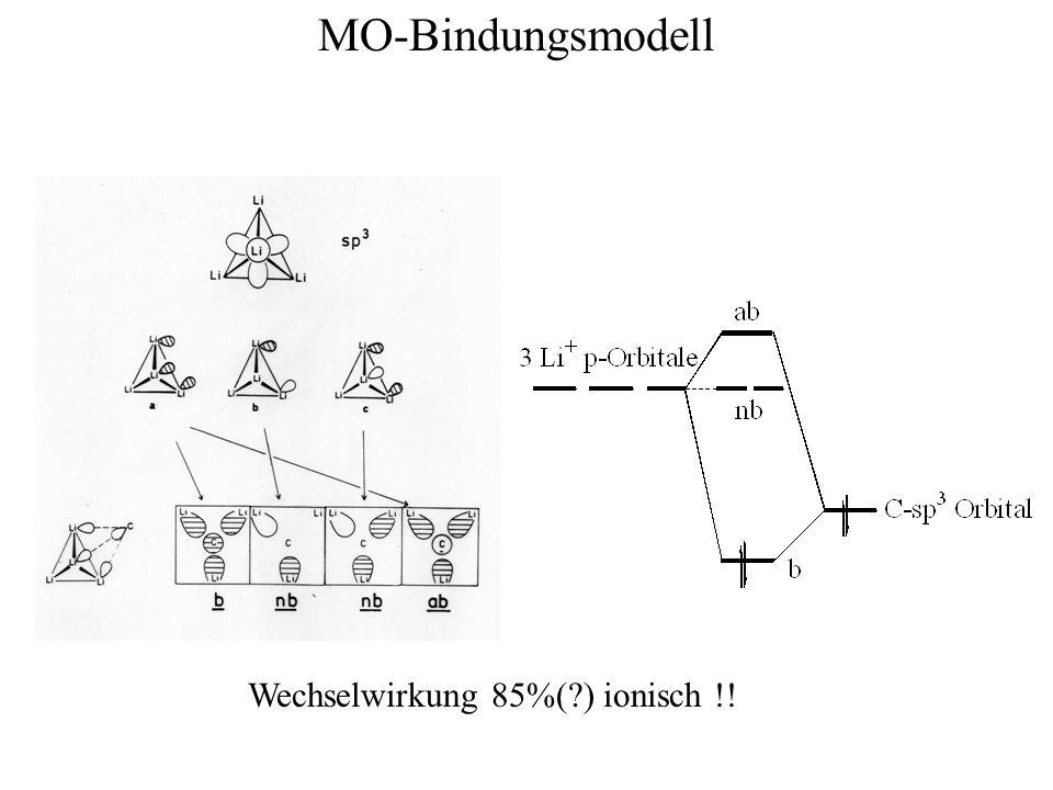 MO-Bindungsmodell Wechselwirkung 85%(?) ionisch !!
