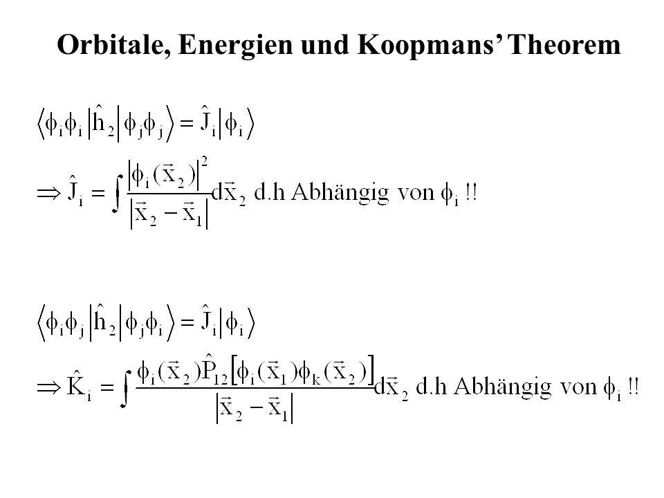 Orbitale, Energien und Koopmans Theorem