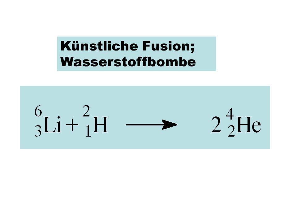 Künstliche Fusion; Wasserstoffbombe