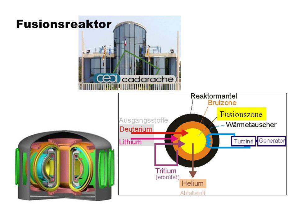 Fusionsreaktor Fusionszone