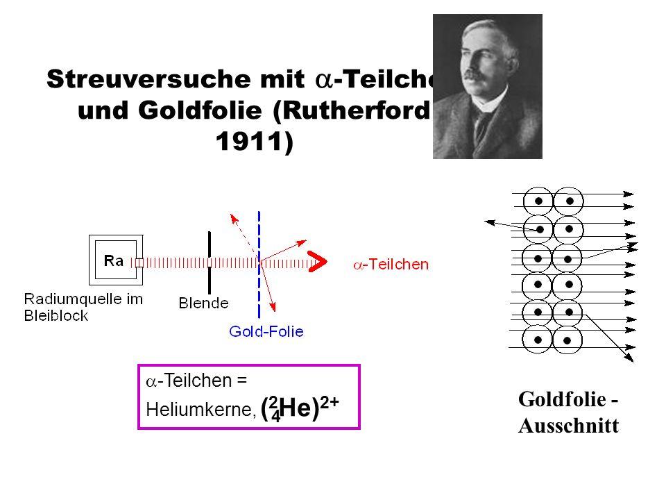 Rutherfords Streuversuche mit - Teilchen und Goldfolie (1911): 1.